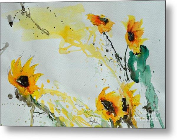Flower Power- Sunflower Metal Print