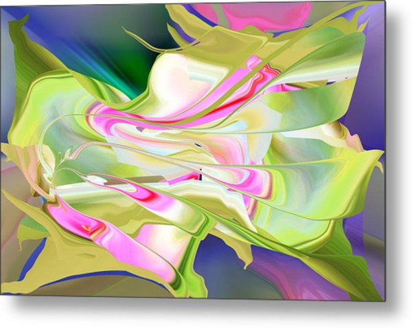 Metal Print featuring the digital art Flower Song Abstract by rd Erickson