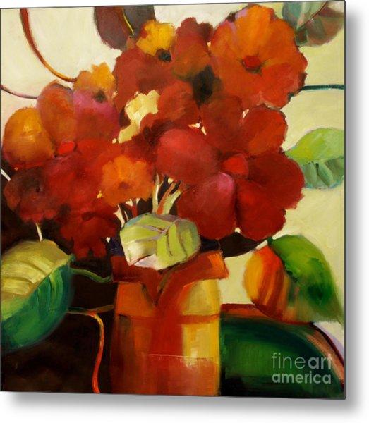 Flower Vase No. 3 Metal Print