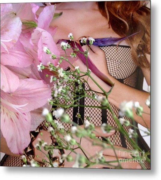 Flowergirl1 Metal Print