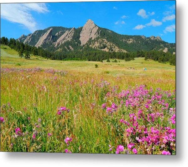 The Flatirons Colorado Metal Print