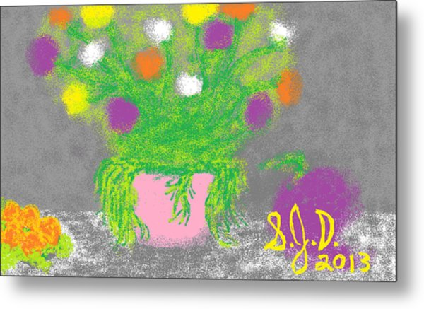 Flowers And Fruit Metal Print by Joe Dillon