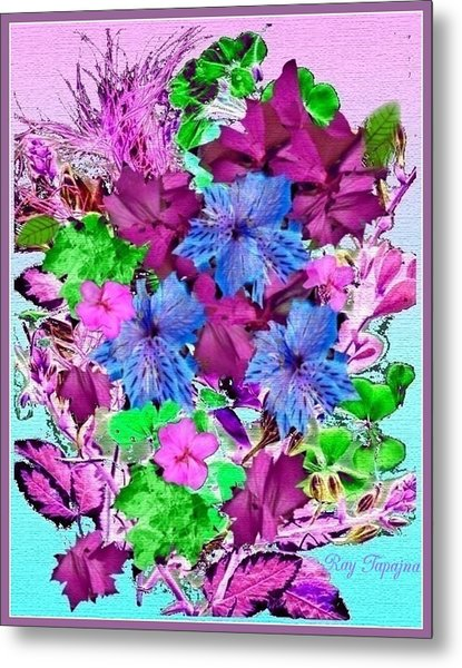 Flowers Designed Just For You Metal Print by Ray Tapajna