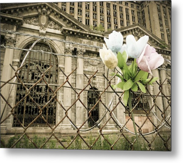 Metal Print featuring the photograph Flowers For Detroit by Priya Ghose