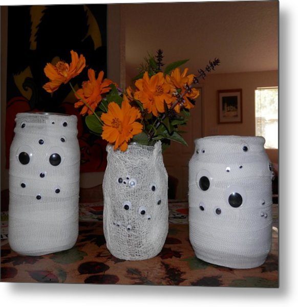 Halloween Flowers For Mummy Metal Print