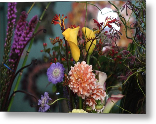 Flowers From My Window Metal Print