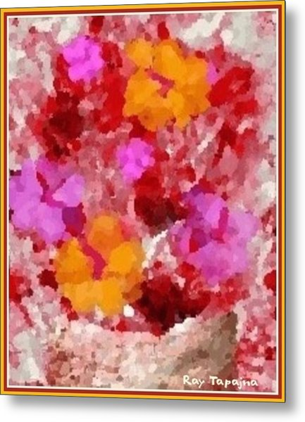 Flowers Impressions  Metal Print by Ray Tapajna