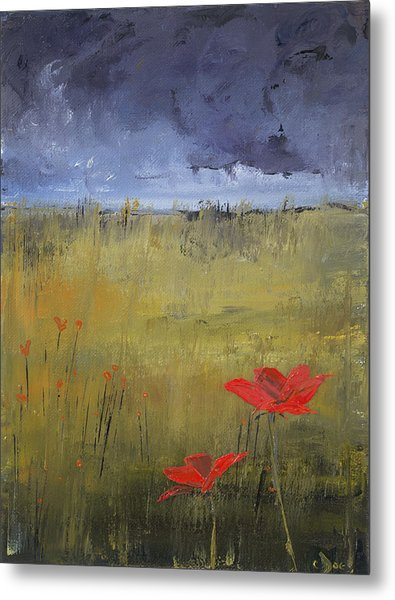 Flowers In A Storm Metal Print