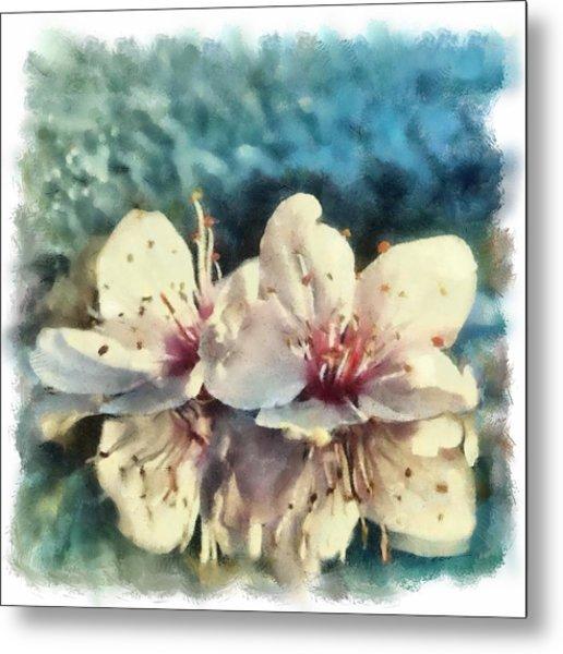 Flowers In Water Metal Print by Desmond De Jager