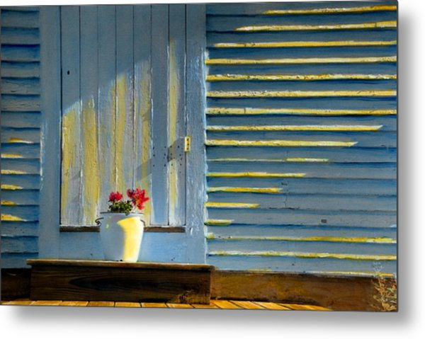 Flowers On The Porch Metal Print