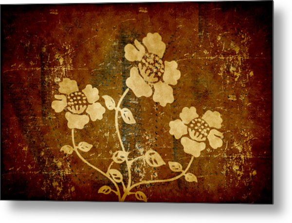 Flowers On The Wall Metal Print