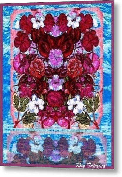 Flowers Touching Souls Metal Print by Ray Tapajna
