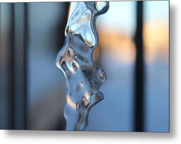 Flowing Ice Metal Print