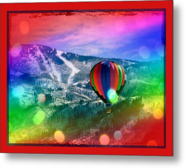 Flowing Rainbow Balloon Metal Print by Tracie Howard