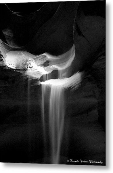 Flowing Sand In Antelope Canyon Metal Print