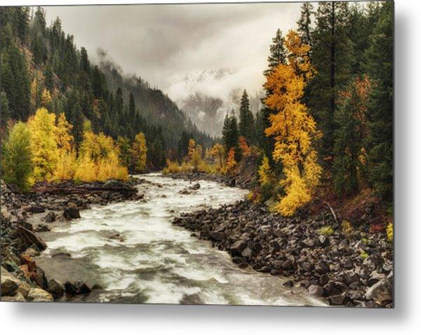 Flowing Through Autumn Metal Print