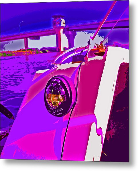 Floyd Pink And Purple Metal Print