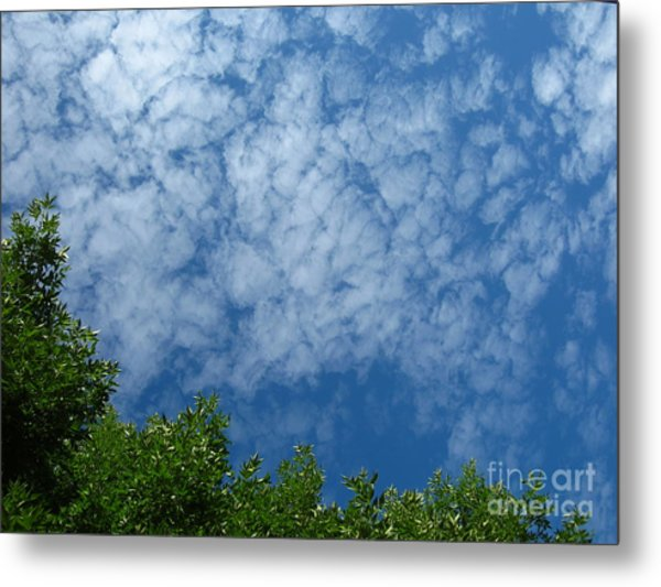 Fluffy Summer Clouds 1 Metal Print