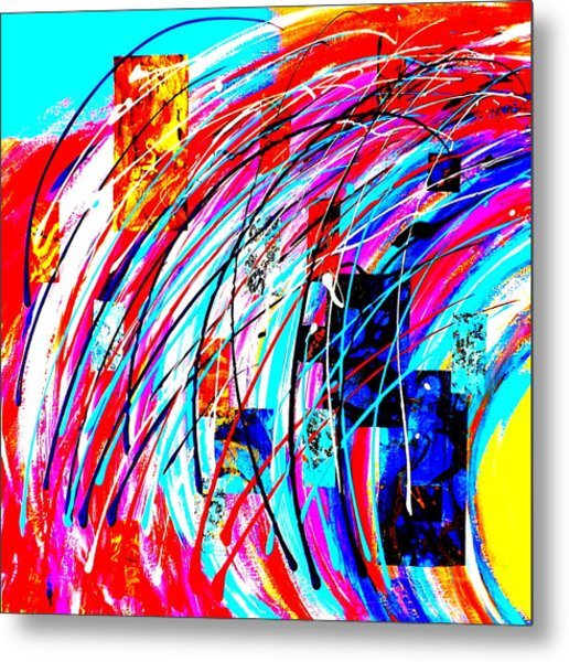 Fluid Motion Pop Art Metal Print