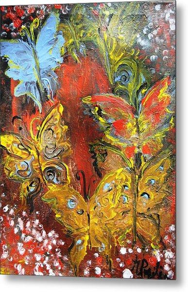 Fluttery Butterflies Metal Print
