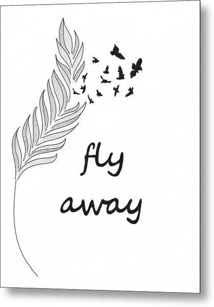 Fly Away Metal Print by Jennifer Kimberly