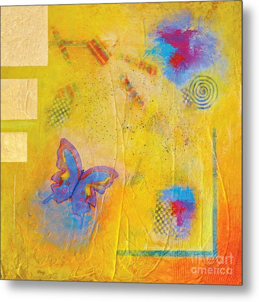 Fly Butterfly Fly Metal Print by Pat Stacy