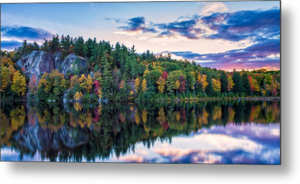 Fly Fishing At Sunset Stonehouse Pond Metal Print