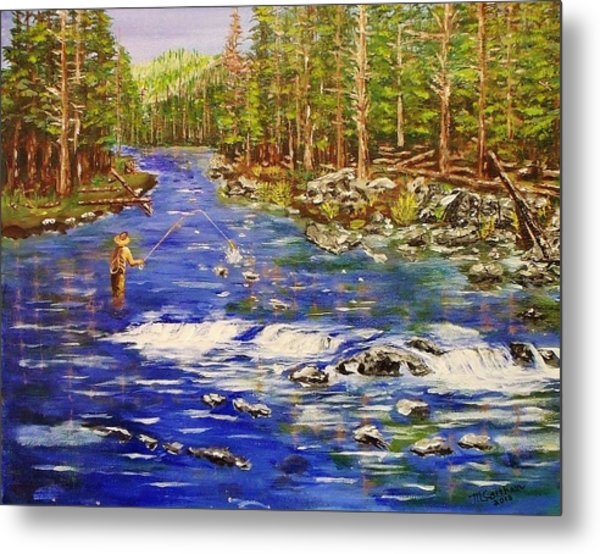 Fly Fishing The Sierras Metal Print