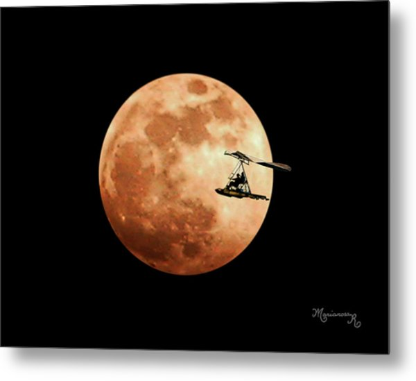Fly Me To The Moon Metal Print by Mariarosa Rockefeller