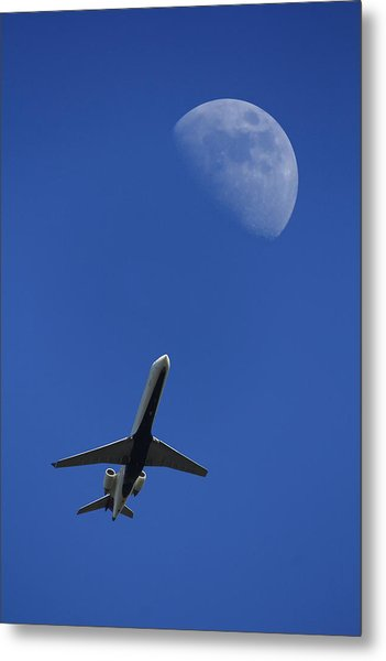 Fly Me To The Moon Metal Print