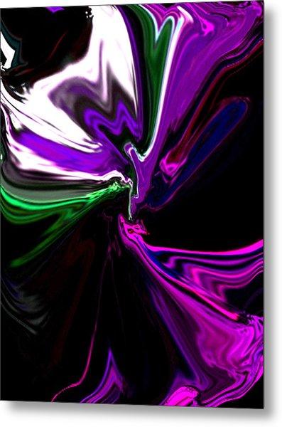 Purple Rain Homage To Prince Original Abstract Art Painting Metal Print
