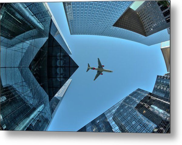 Fly Over Metal Print