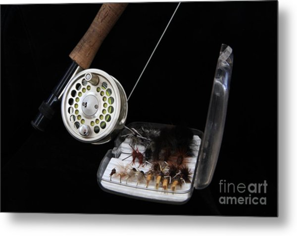 Fly Rod And Fly's Metal Print