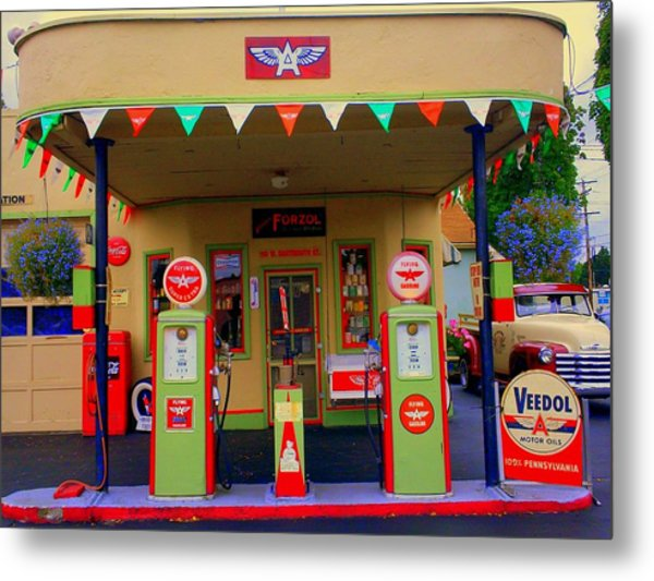 Flying A Gas Station Metal Print