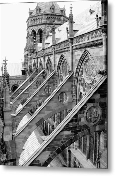 Flying Buttresses Bw Metal Print