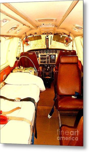 Flying Doctor Plane Metal Print by John Potts