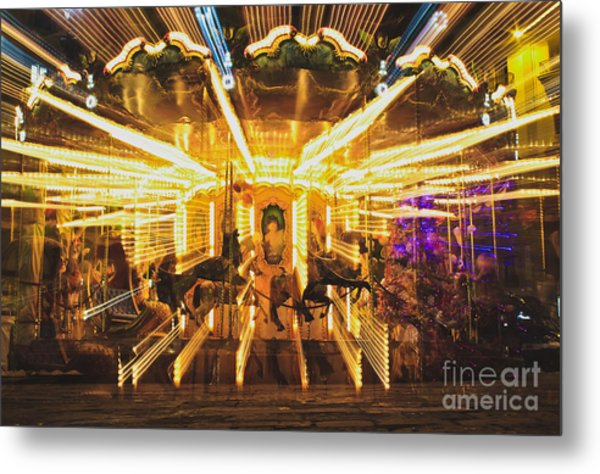 Flying Horses Carousel  Metal Print