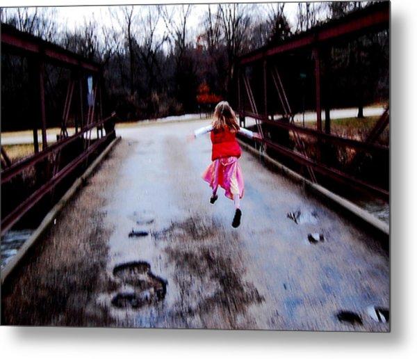 Flying On The Bridge Metal Print by Jon Van Gilder