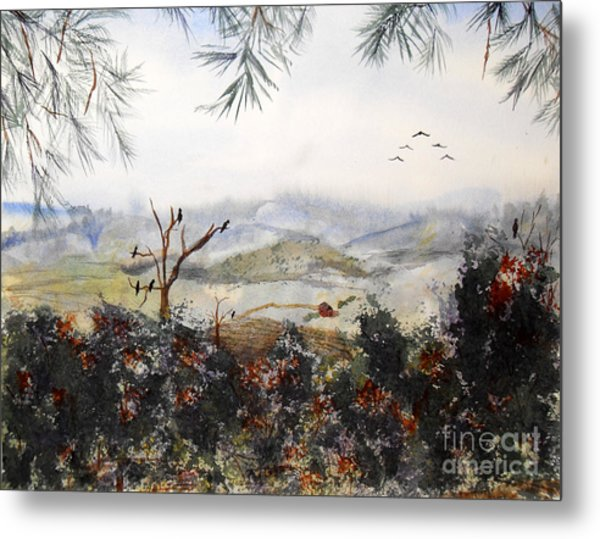 Flying South For The Winter Metal Print