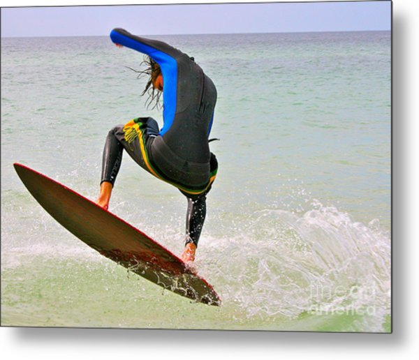 Flying The Wave Metal Print
