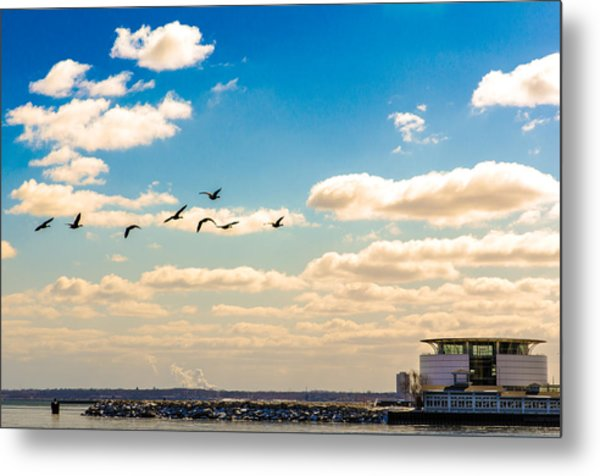 Flying To Discovery Metal Print