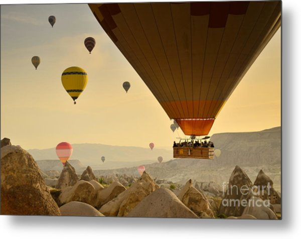 Flying With The Fairies 2 - Cappadocia Turkey Metal Print by OUAP Photography
