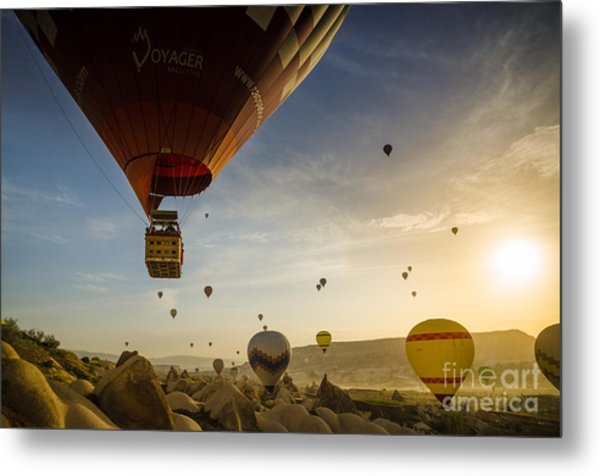 Flying With The Fairies - Cappadocia Turkey Metal Print by OUAP Photography