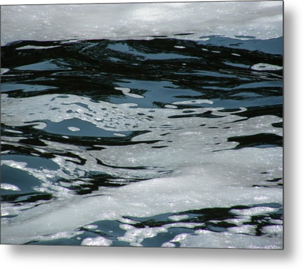 Foam On Water Metal Print