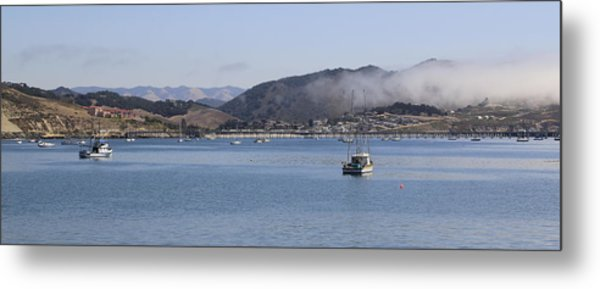 Fog Hovering Over San Luis Obispo Bay Metal Print