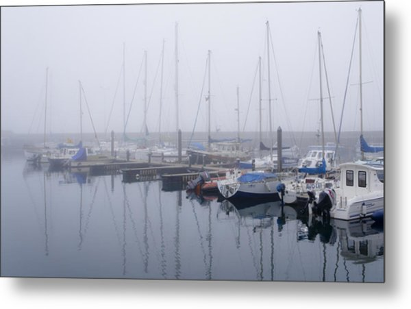 Fog In Marina I Metal Print