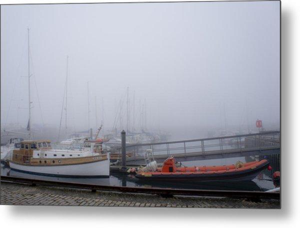 Fog In Marina IIi Metal Print