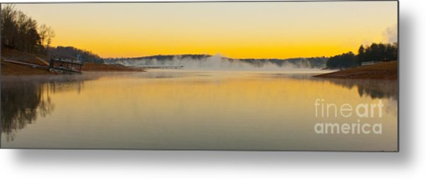 Fog Over The Lake Metal Print