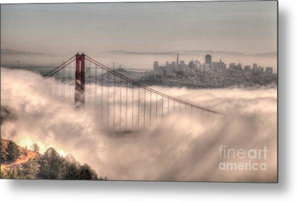 Fog Roll Metal Print