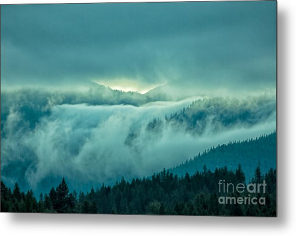 Fog Rolling Over The Montana Rocky Mountains Metal Print by Natural Focal Point Photography